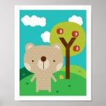 Mr Bear - Woodland Friends Nursery Wall Art