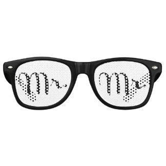 Mr. Black on White Retro Sunglasses