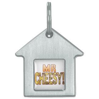 Mr Blue Cheesy Pet ID Tags