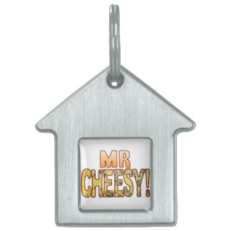 Mr Blue Cheesy Pet Name Tag