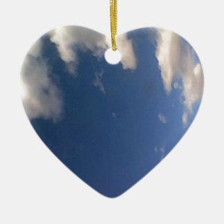 Mr. Blue Sky Ceramic Heart Decoration