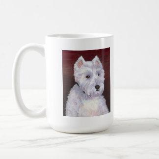 Mr Bob, white puppy mug