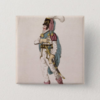 Mr. Braham in the character of Orlando 15 Cm Square Badge