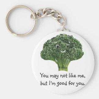 Mr.Broccoli Basic Round Button Key Ring