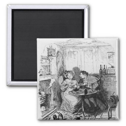 Mr Bumble and Mrs Corney taking tea Refrigerator Magnets