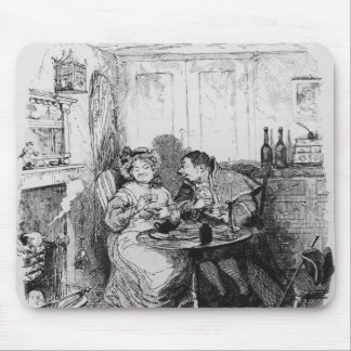 Mr Bumble and Mrs Corney taking tea Mouse Mat