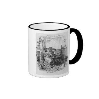 Mr Bumble and Mrs Corney taking tea Ringer Coffee Mug