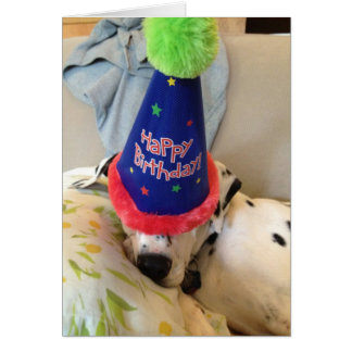 Mr. Buttons Birthday Card...Partied All Night Long Card