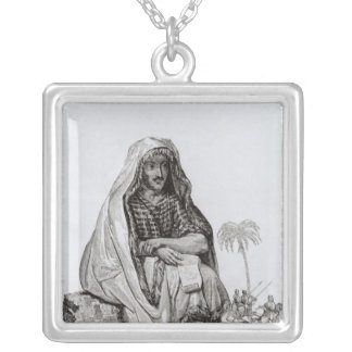 Mr Caillie  Meditating Silver Plated Necklace