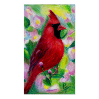 Mr. Cardinal aceo Art Card Pack Of Standard Business Cards