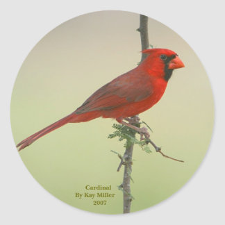 Mr. Cardinal Classic Round Sticker