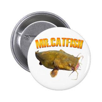 Mr Catfish fishing 6 Cm Round Badge