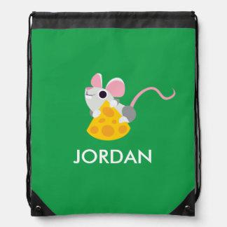 Mr. Cheeseman the Mouse Drawstring Bag