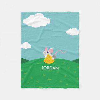 Mr. Cheeseman the Mouse Fleece Blanket