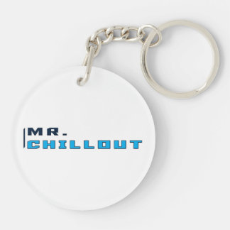 Mr. Chillout Logo Keyring Double-Sided Round Acrylic Key Ring