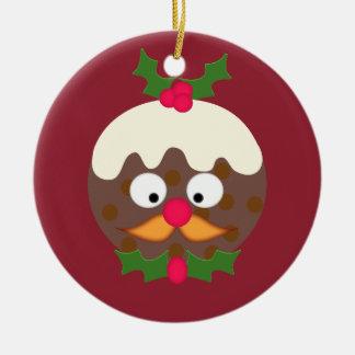 Mr Christmas Pudding Christmas Ornament