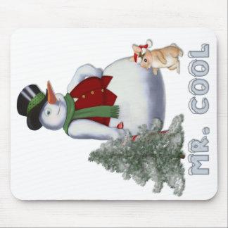Mr. Cool - Snowman Mouse Mat