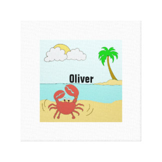 Mr Crab at the beach Canvas Print