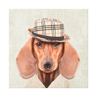 Mr Dachshund Canvas Print