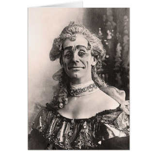 Mr Dan Leno as Mother Goose Greeting Card