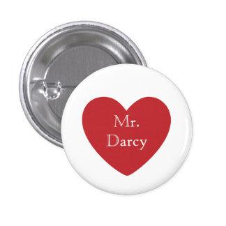 Mr. Darcy 3 Cm Round Badge