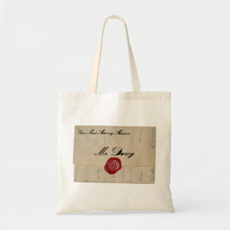 Mr Darcy Love Letter Tote Budget Tote Bag