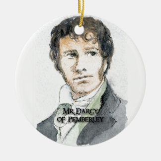 Mr Darcy of Pemberley Christmas Ornament