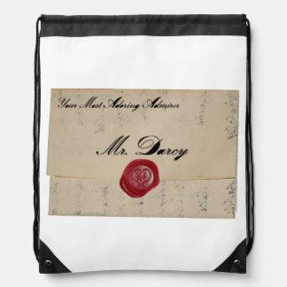 Mr Darcy Regency Love Letter Cinch Bag