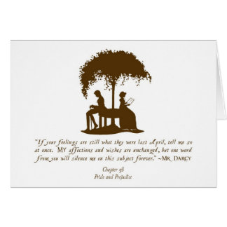 Mr Darcy's Proposal Card