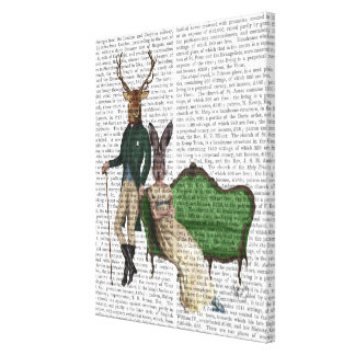 Mr Deer and Mrs Rabbit Canvas Print