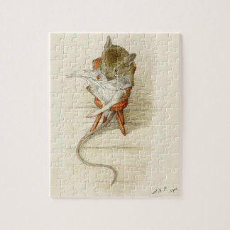 Mr. Dormouse Reading the Newspaper Jigsaw Puzzles