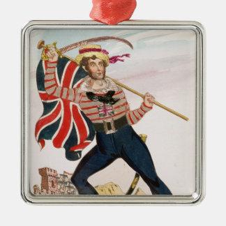 Mr E.F. Saville as 'Union Jack Christmas Ornament