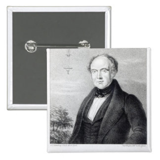 Mr. Edward Spencer, lithograph by Day & Haghe 15 Cm Square Badge