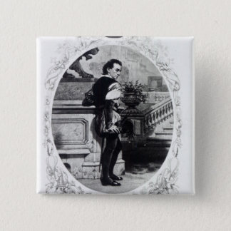 Mr. Edwin Booth as Iago 15 Cm Square Badge