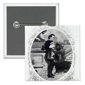 Mr. Edwin Booth as Iago 15 Cm Square Badge