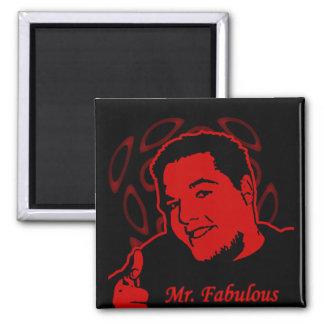 Mr. Fabulous Square Magnet