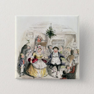 Mr Fezziwig's Ball, from 'A Christmas Carol' 15 Cm Square Badge