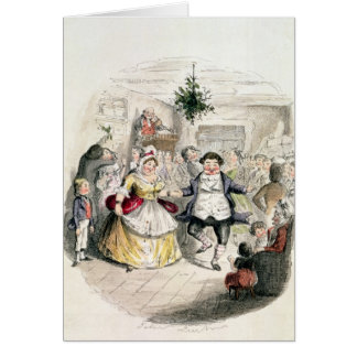 Mr Fezziwig's Ball, from 'A Christmas Carol' Greeting Card