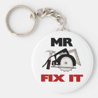 Mr Fix It Basic Round Button Key Ring