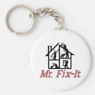 Mr. Fix-it Basic Round Button Key Ring