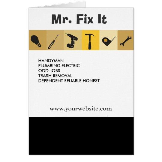 Mr.Fix It Men's Working  Tools  Light Bulb Wrench Card