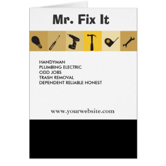 Mr.Fix It Men's Working  Tools  Light Bulb Wrench Greeting Card