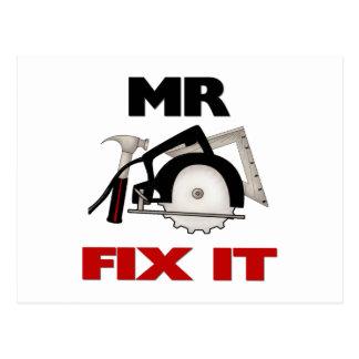Mr Fix It Postcard