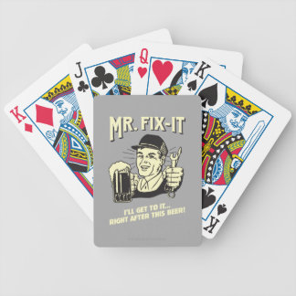 Mr. Fixit: After this Beer Bicycle Playing Cards