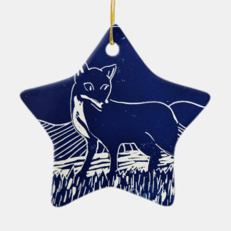 Mr Fox Christmas Ornament