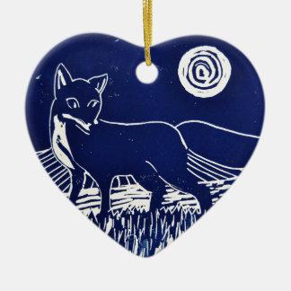 Mr Fox Christmas Ornament