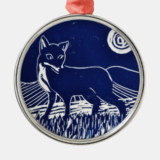 Mr Fox Silver-Colored Round Decoration