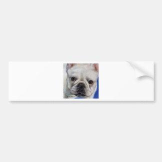 """Mr. French"" french Bulldog frenchie art painting Bumper Sticker"