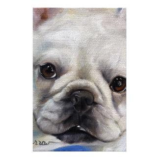 """""""Mr. French"""" french Bulldog frenchie art painting Stationery"""