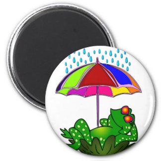 Mr Frog 6 Cm Round Magnet